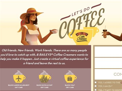 Coffee Sweepstakes - the baileys coffee creamers let s do coffee sweepstakes