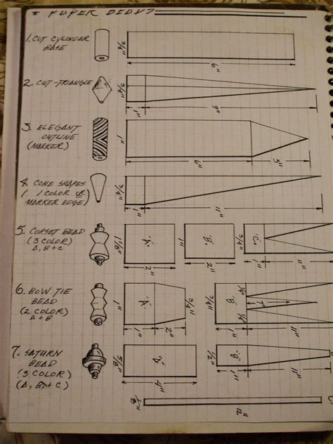 Paper Bead Template - basic paper 183 how to make a paper bead