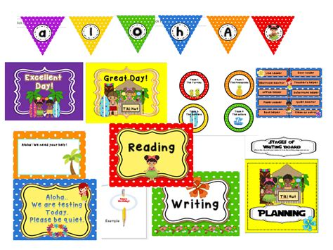 Classroom Decoration Kits by Creative Teaching Ideas Luau Classroom Decorations