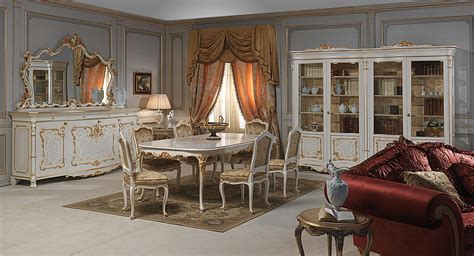 venice room venice dining table in louis xv style vimercati classic furniture