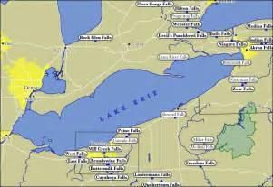 map of lake erie waterfalls