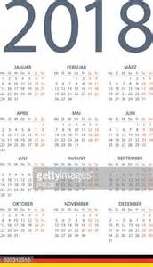 Calendar 2018 Illustration German Calendar 2018 Illustration Vector Getty Images