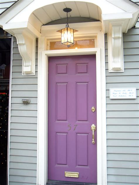 purple front door popular colors to paint an entry door installing decorating windows doors diy