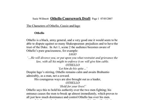 William Shakespeare Essay Topics by 5 College Application Topics About Othello Essay Topics Iago