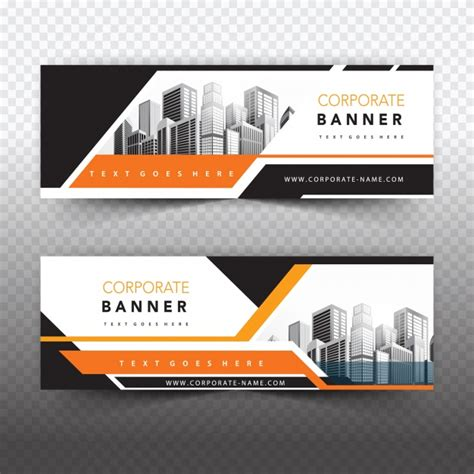 layout de banner gratis orange business banner vector free download
