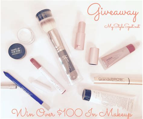 Giveaways Makeup - giveaway win over 100 in makeup over 124 other prizes mystylespot