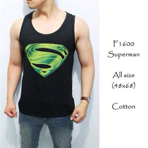 Jual Baju Fitnes Cowok jual singlet superman baju pria fitnes galangfox