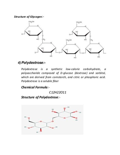 diagram of a polysaccharide polysaccharide and its types with chemical formula by