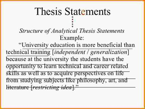 exles of thesis statements for essays write me a thesis statement