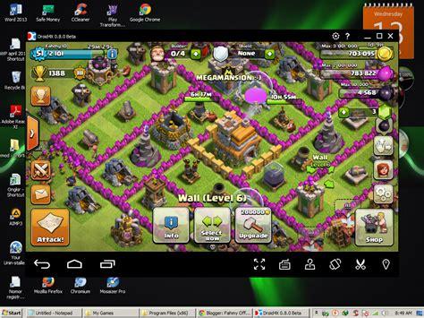 game coc yg sudah di mod cara bermain games clash of clans di pc dan laptop