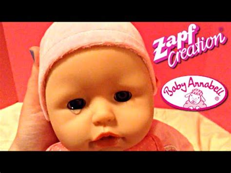 annabelle doll unboxing zapf creations baby annabell doll unboxing and play
