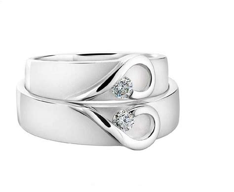 platinum heart wedding bands  diamond