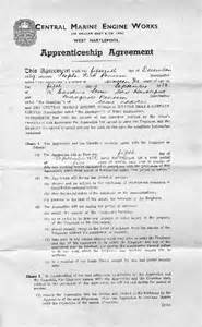 apprenticeship contract template hartlepool history then now