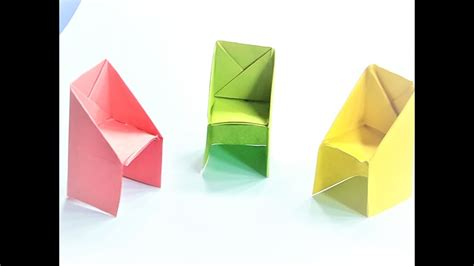 3d origami chair tutorial how to make a paper chair origami paper chair video
