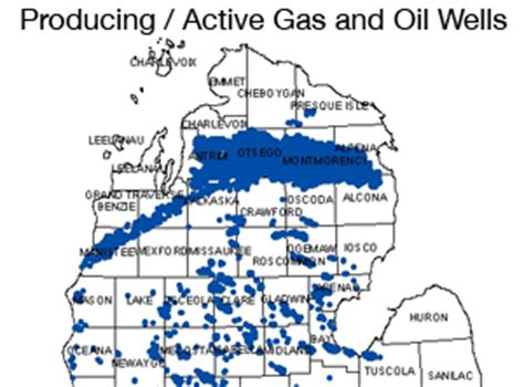 michigan oil, natural gas production plummets