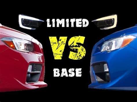 2015 subaru wrx limited vs base headlight & taillight