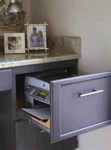 kitchen office area hgtv remodels printer inside filing