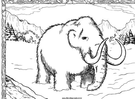 Wooly Mammoth Coloring Page Drawing Sketch Coloring Page Wooly Mammoth Coloring Page