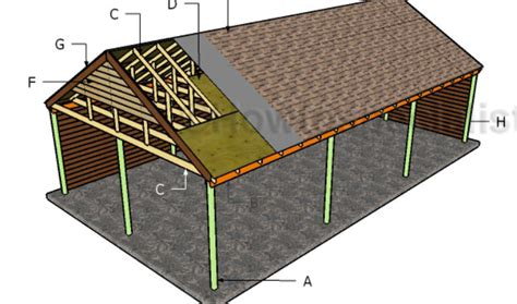 carport plans with storage gable carport roof plans howtospecialist how to build