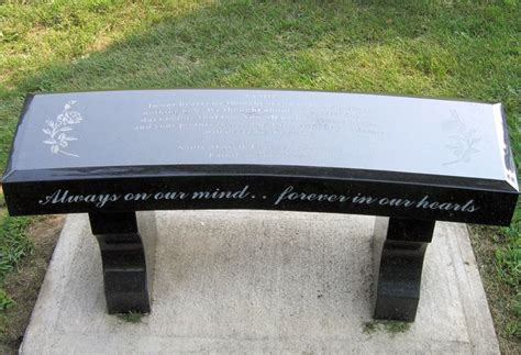 bench headstones for graves pin by monica lopez on funeral prearrangement ideas