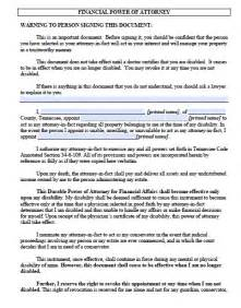free durable power of attorney tennessee form adobe pdf