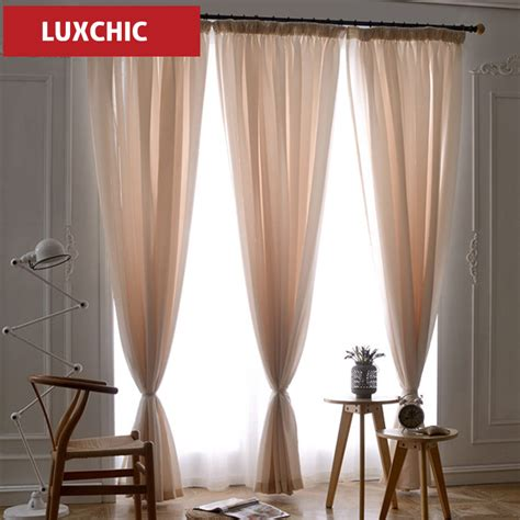 luxchic translucidus voile curtains modern linen window
