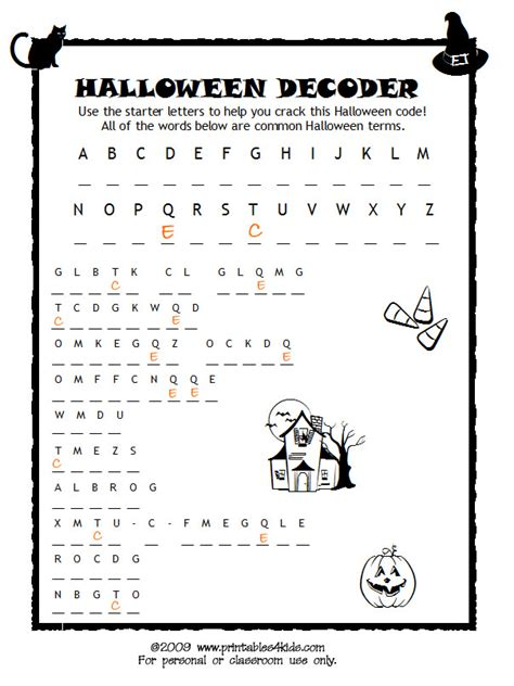 printable halloween coloring pages and activities 11 best images of fun free printable halloween worksheets