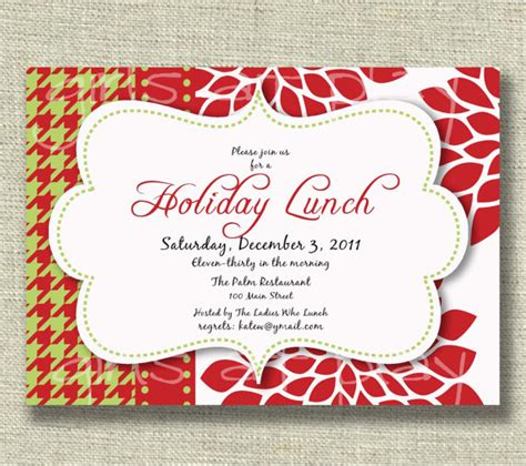 employee holiday luncheon invitation template lunch invitation for