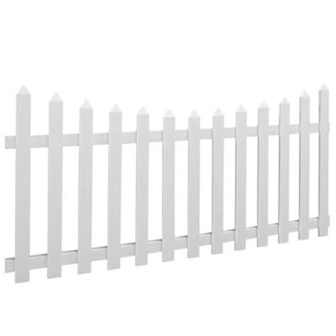 Picket Fence Sections Home Depot by 4 Ft X 8 Ft Westfield Scallop Vinyl Scalloped Picket