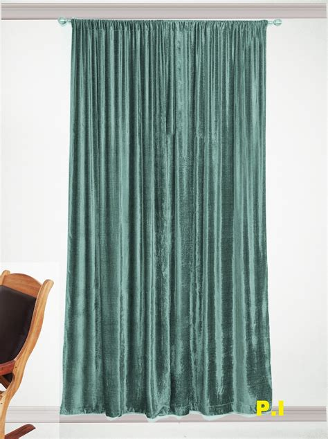 aqua velvet curtains new blackout 100 cotton velvet curtain single lined panel