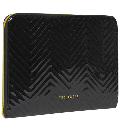 Quilted Laptop Sleeve by Ted Baker Lianna Quilted Laptop Sleeve Black