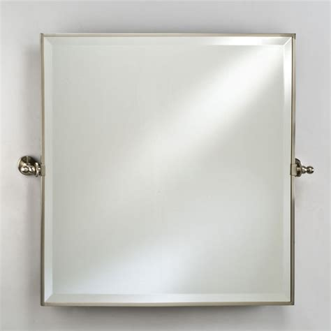 bathroom mirrors radiance framed square bevel wall
