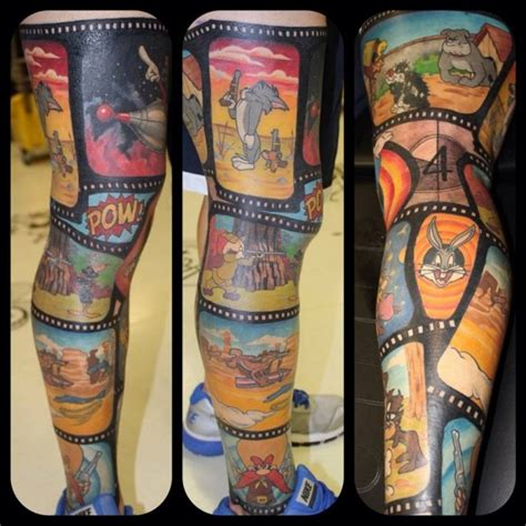 looney tunes tattoos this is how you do a classic animation