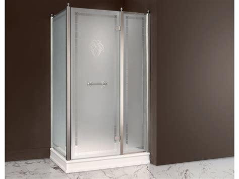 box doccia vetro satinato box doccia rettangolare in vetro satinato con porta a