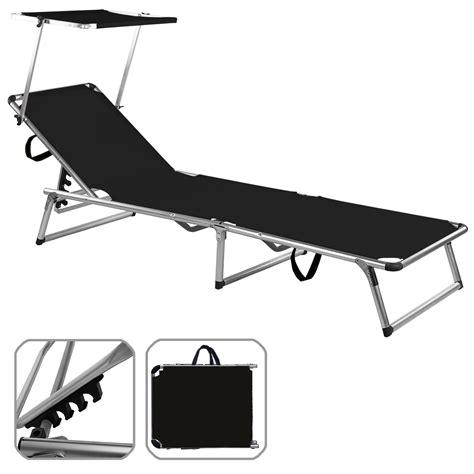 Sun Lounger Mattress by Folding Sun Lounger Bed Steamer Chair Sun Shade Outdoor