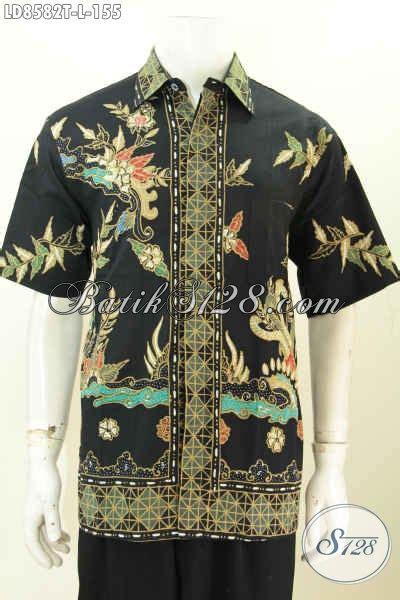 Hem Batik Tulis Pendek F60417022bru Kemeja Batik Terbaru Murah baju batik hem lengan pendek pria busana batik terbaru desain berkelas proses motif tulis harga
