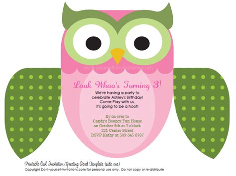 printable owl invitations free owl invitation template