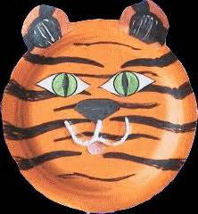 How To Make A Tiger Mask Out Of Paper - 1000 ideas about paper plate masks on paper