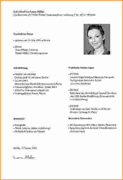 Bewerbungbchreiben Muster Lehrerin 4 Lebenslauf Schreiben Vorlage Questionnaire Templated
