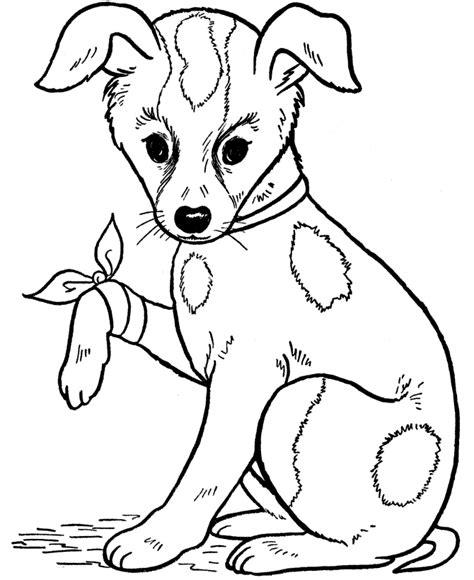 coloring pages of dog and puppy free printable dog coloring pages for kids