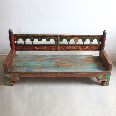 painted wooden bench kasakosa home decor