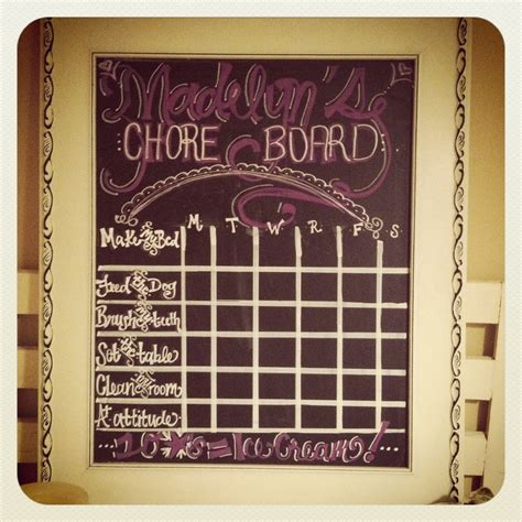 diy chalkboard chore chart 98 best images about chalk it up to creativity on