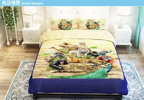 Tiger Print Bedding Comforter Set 3d Animal Comforters Cover Tiger Print Duvet Cover Sets Bedding Set King Size Fitted