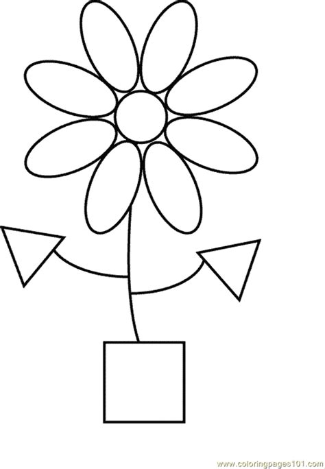 coloring pages shape coloring page 16 education gt shapes