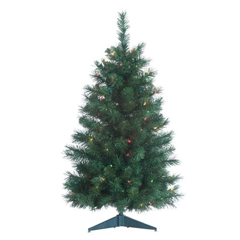 sterling 3 ft pre lit colorado spruce artificial