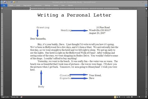 Letter Writing steps to writing a letter letter of recommendation