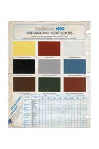 scout colors color chart original 1980 scout ii reproduction
