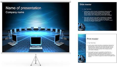 powerpoint 2007 themes computer computer network powerpoint template backgrounds id