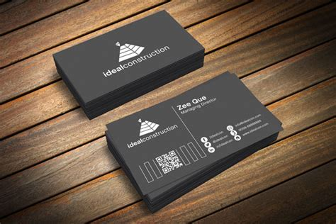 black business cards templates psd free black white business card template mockup psd