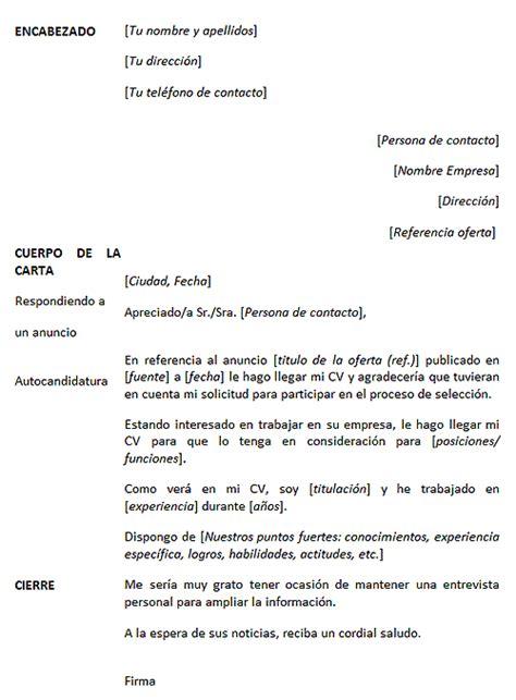 Modelo De Carta De Presentacion Para Un Curriculum Vitae C 243 Mo Hacer Una Quot Carta De Presentaci 243 N Quot Aulua